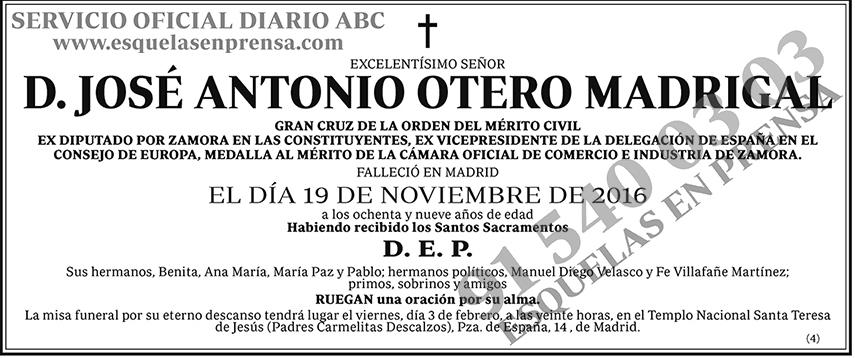 José Antonio Otero Madrigal